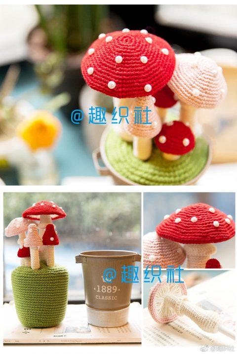 Вяжем крючком красивые грибы, подборка идей и мастер-классов