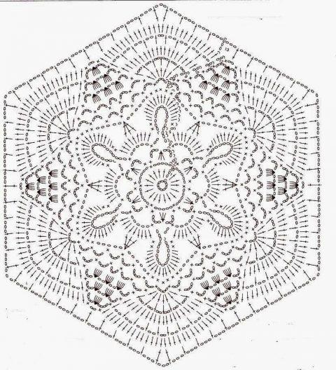 Схемы и описания красивых мотивов крючком