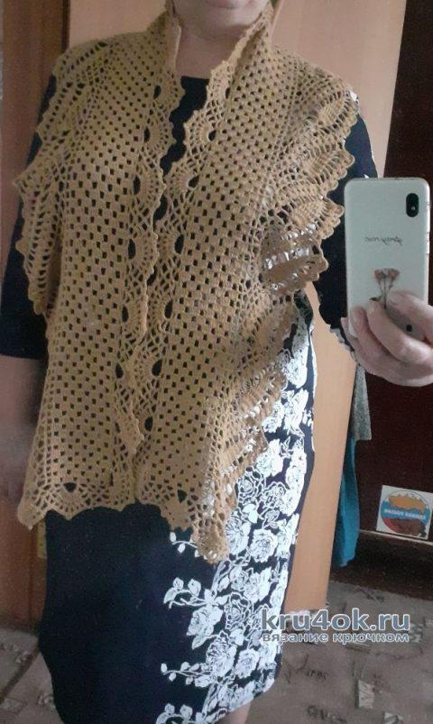 Ажурный шарфик. Работа Альбины Ваниной вязание и схемы вязания