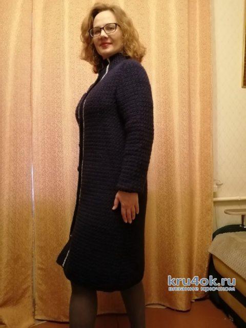 Очень простое пальто крючком. Работа Таисии вязание и схемы вязания