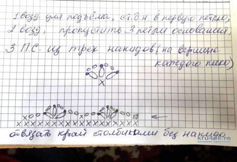 Туника Волшебная роза в филейной технике. Работа Елены Саенко вязание и схемы вязания