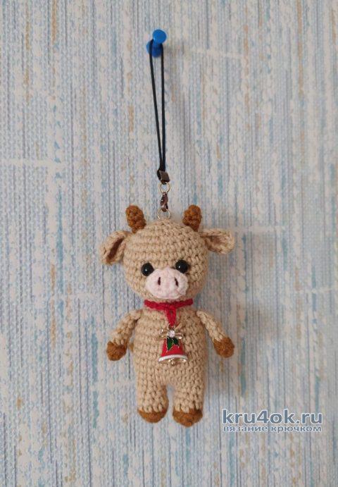 Вязаная игрушка брелок бычок Тимошка. Описание и видео-урок вязание и схемы вязания