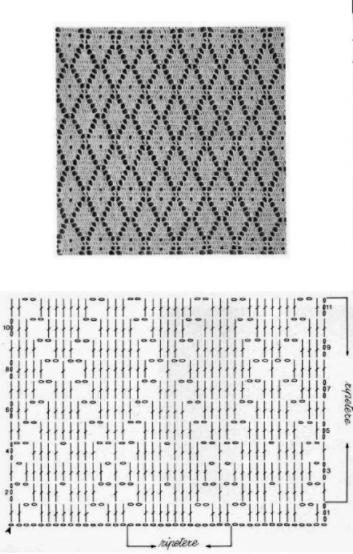 Схемы узора ромбы для вязания крючком