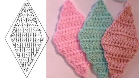 схема вязания узора ромбы крючком