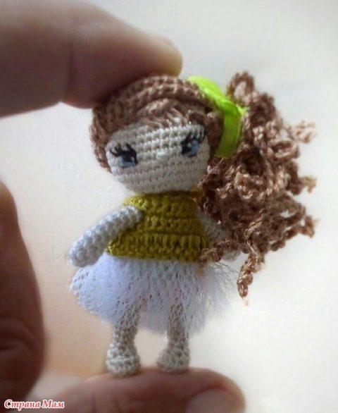 Кукла Ева, связанная крючком и ее домик 0