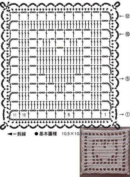 Подборка схем квадратных мотивов с сердцем 3