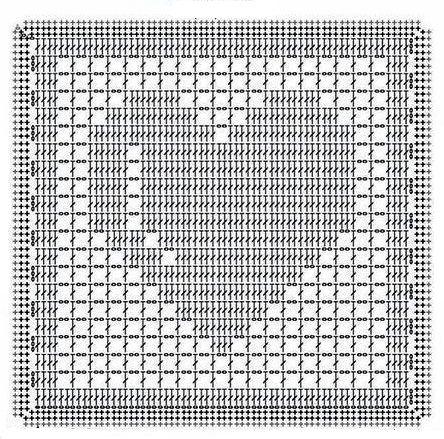 Подборка схем квадратных мотивов с сердцем 5