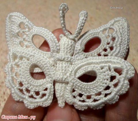 Бабочка крючком на бурдоне 9
