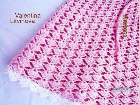 Сарафан для девочки Diana. Работа Валентины Литвиновой вязание и схемы вязания