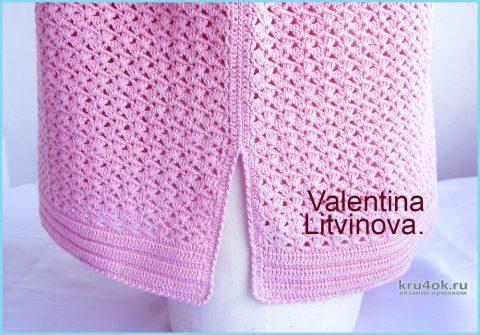Туника Josephine, связанная крючком. Работа Валентины Литвиновой вязание и схемы вязания