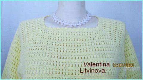 Туника Roxolana, связанная крючком. Работа Валентины Литвиновой вязание и схемы вязания