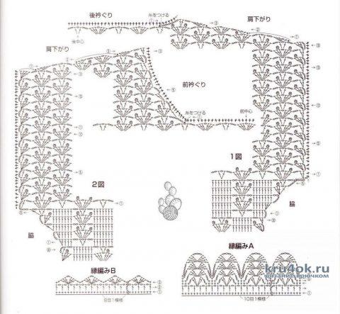 Туника Сhristina, связанная крючком. Работа Валентины Литвиновой вязание и схемы вязания
