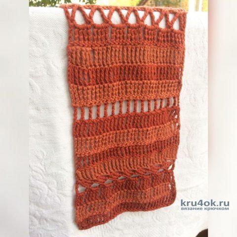 Вязанная крючком дорожка. Работа Myrka_FM вязание и схемы вязания