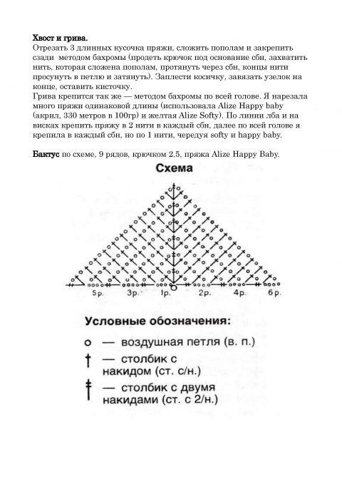 Лев Мякиш крючком от Людмилы Першиной