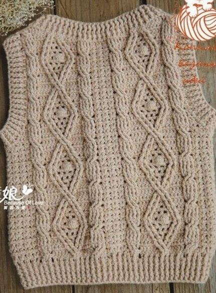 Схемы вязания узоров из кос и жгутов крючком