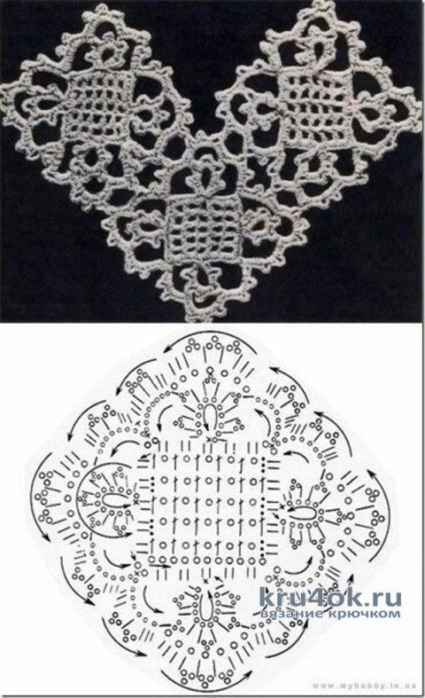 Плед крючком. Работа Николая Мошкина вязание и схемы вязания