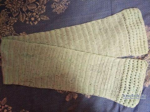 Шарф крючком. Работа Ирины Промашковой вязание и схемы вязания