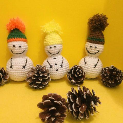 Снеговик крючком, работа Ольги Шевчук вязание и схемы вязания