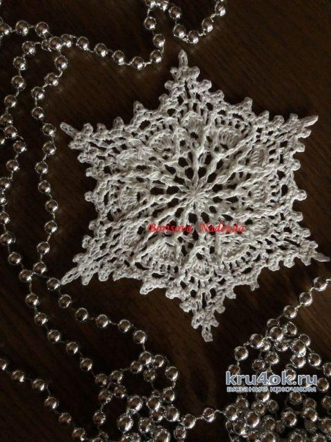 Снежинки крючком. Работы Надежды Борисовой вязание и схемы вязания