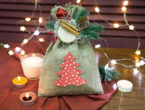 Упаковка «Новогодний мешочек»