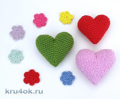 Идеальное вязанное сердечко крючком, описание и видео-урок