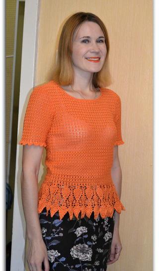 Вязаная кофточка Апельсиновое настроение