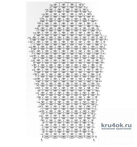 Ажурный пуловер Звёздочка, связанный крючком. Работа Евгении Руденко вязание и схемы вязания