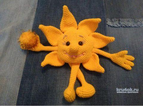 Игрушка Солнышко крючком. Работа Веры