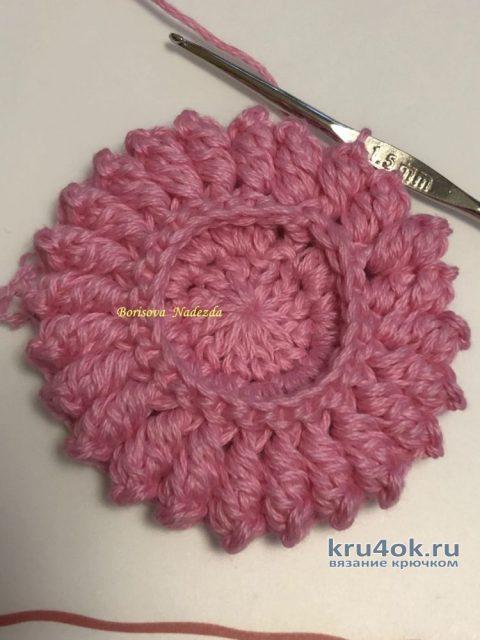 Интерьерная красивая салфетка Holly. Работа Надежды Борисовой вязание и схемы вязания