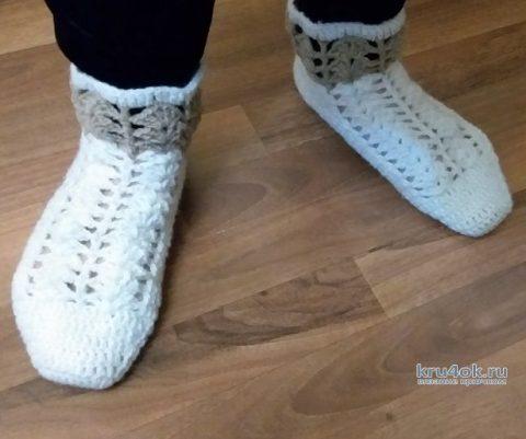 Как связать шерстяные носки крючком. Видео-урок вязание и схемы вязания