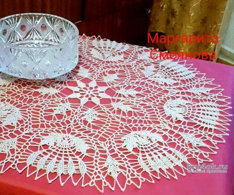 Красивая круглая салфетка крючком. Работа Маргариты вязание и схемы вязания