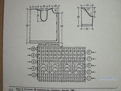 Летняя кофточка крючком. Работа Любови вязание и схемы вязания
