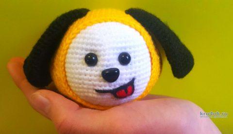 Пёсик Чимми - игрушка крючком. Работа Аси Воронцовой