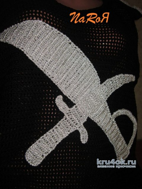 Пиратская майка связанная крючком. Работа Натальи Круминьш Романович вязание и схемы вязания