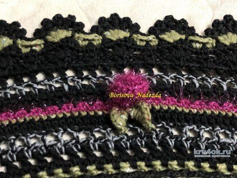 Шикарная шаль крючком ДОЛЬЧЕ ВИТА. Работа Надежды Борисовой вязание и схемы вязания