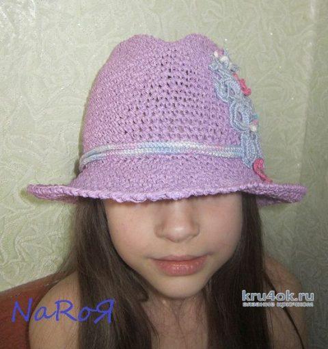 Шляпа Федора крючком. Работа Натальи вязание и схемы вязания
