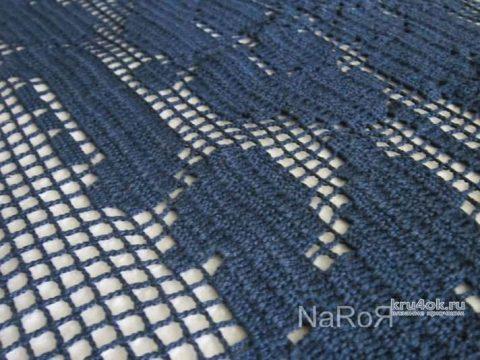 Туника в филейной технике на большой размер. Работа Натальи Круминьш Романович вязание и схемы вязания