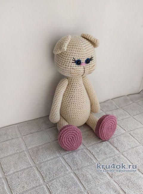 Вязаная игрушка Кошечка Лиля. Описание и видео-урок вязание и схемы вязания