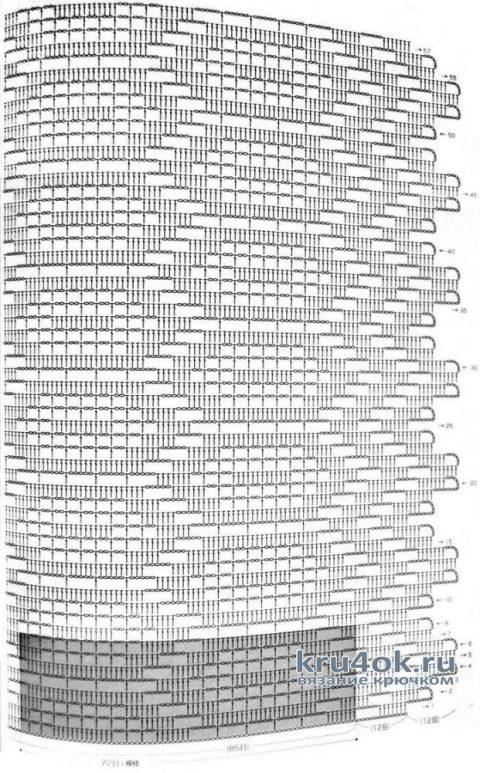 Жилет крючком в филейной технике. Работа Елены Шевчук вязание и схемы вязания