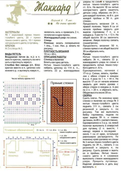 Схемы и описание вязания жакета крючком