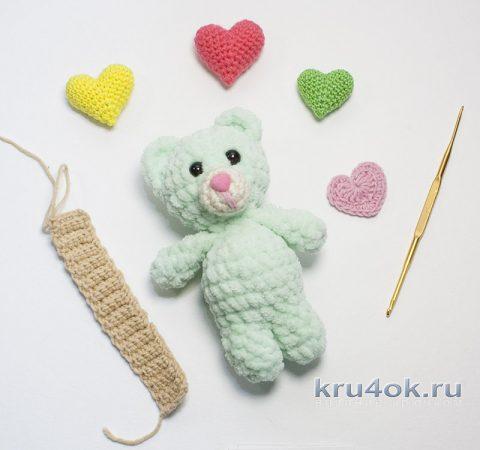 Мишка ВАЛЕНТИНКА - вязанная крючком игрушка за ПОЛЧАСА