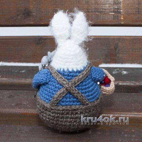 Пасхальный кролик, заяц крючком. Схема, описание и видео-урок