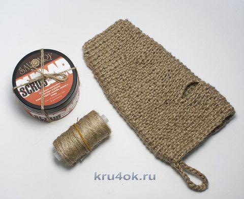 Мочалка крючком из джута
