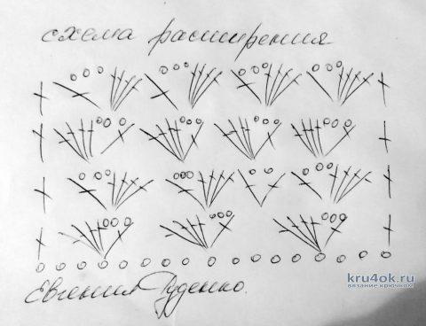 Ажурная туника крючком Синева. Работа Евгении Руденко вязание и схемы вязания