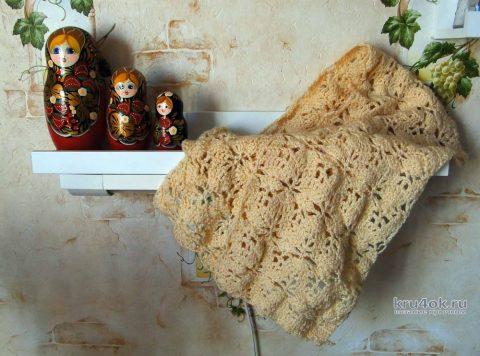 Ажурный шарф Осенний связан крючком. Работа Светы Медведевой вязание и схемы вязания