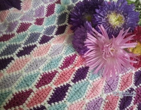 Две юбки крючком по одной схеме. Работы Алены Салимсаковой вязание и схемы вязания