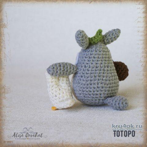 Игрушка ТОТОРО, связанная крючком. Работа Alise Crochet вязание и схемы вязания