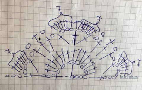 Косынка Светлая Радость крючком. Работа Светы Медведевой вязание и схемы вязания