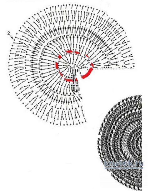 Салфетка Курочка крючком. Работа Натальи Круминьш Романович вязание и схемы вязания