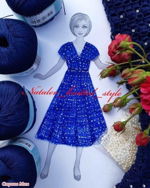 Женское платье Nostalgie крючком 0